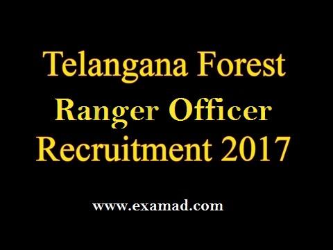 TSPSC Forest Ranger Officer Recruitment 2017