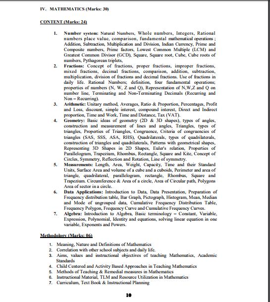 APTET Syllabus in Telugu 2018 PDF Download