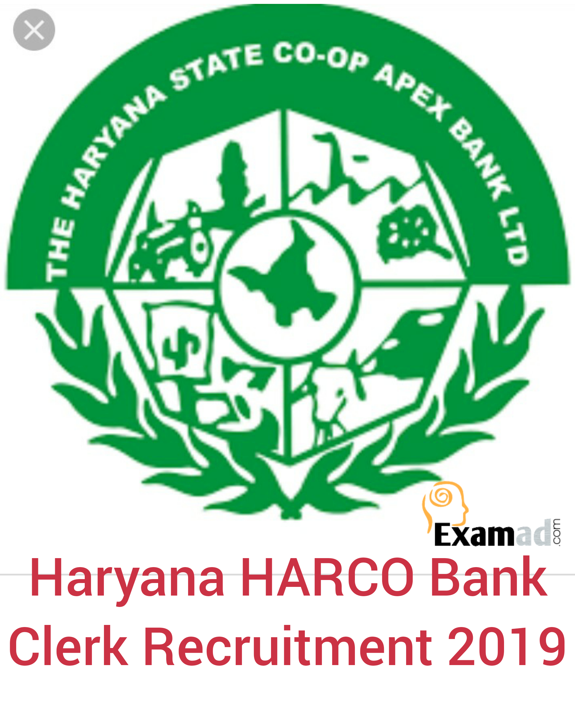 Haryana HARCO Bank Clerk Syllabus and Exam Pattern 2019