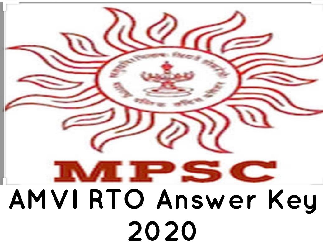 MPSC RTO AMVI Prelim Answer Key 2020
